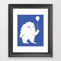 Happy Monster Framed Art Print