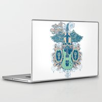 guitar Laptop & iPad Skins featuring Guitar  by Tshirt-Factory