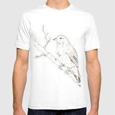 Nightingale SMALL White Mens Fitted Tee