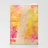 New York City Map Colore… Stationery Cards