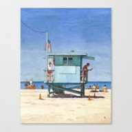 Canvas Print featuring Beach Day by Chad Gowey