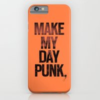 iPhone & iPod Case featuring Make my day punk by Puldefranck