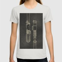 LightSabers Womens Fitted Tee Silver SMALL