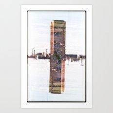 Landscapes c1 (35mm Double Exposure) Art Print