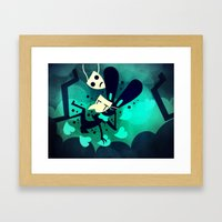 Falling In Human With You Framed Art Print