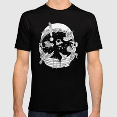 Depth of Discovery (A Case of Constant Curiosity-B/W) SMALL Mens Fitted Tee Black