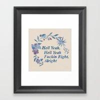 Floral Rap #1 Framed Art Print