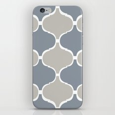 MARRAKECH PATTERN GreyBlue iPhone & iPod Skin