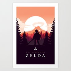 The Legend Of Zelda - Or… Art Print