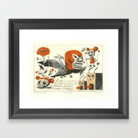 Niño Burro Framed Art Print