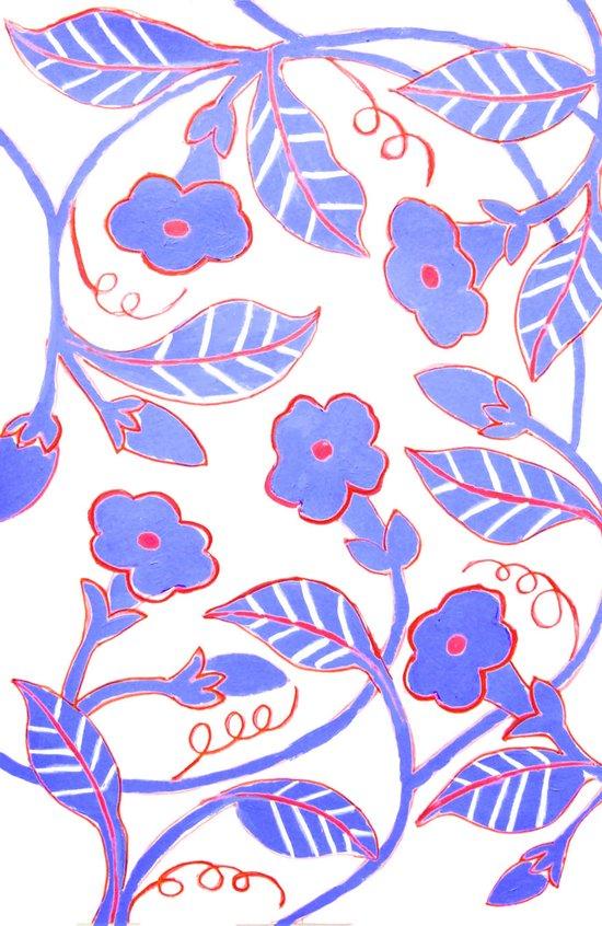 Mandavilla Blue Art Print
