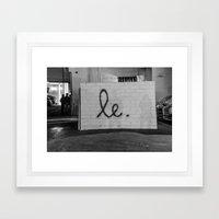 Le Framed Art Print
