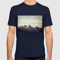 Mountain Ridge Morning Mens Fitted Tee Navy SMALL