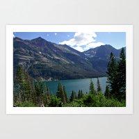 Glacier National Park Sa… Art Print