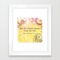 Thy Eternal Summer Shall Not Fade - Sonnet 18 - Shakespeare Love Quotes Framed Art Print