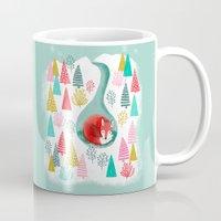 Winter's Fox By Andrea L… Mug