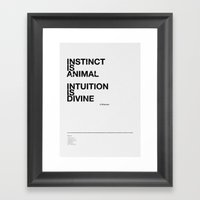 Instinct And Intuition Framed Art Print