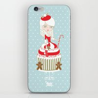 Merry Lady Christmas Cup… iPhone & iPod Skin