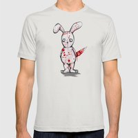 Killer Bunny Mens Fitted Tee Silver SMALL