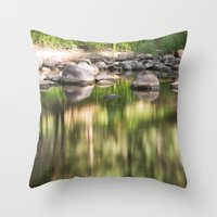 Merced River Throw Pillow