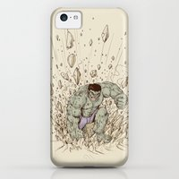 iPhone 5c Cases featuring Hulk Smash by Alex Solis