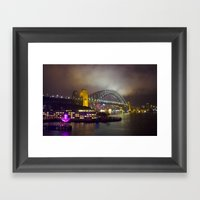 Vivid Bridge Framed Art Print