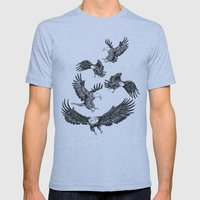 Eagles Pattern Mens Fitted Tee Athletic Blue SMALL