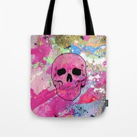 Skull collage Tote Bag
