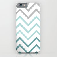 THIN TEAL CHEVRON FADE  iPhone 6 Slim Case