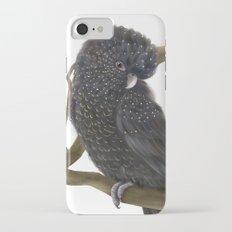 Glossy Black Cockatoo iPhone 7 Slim Case