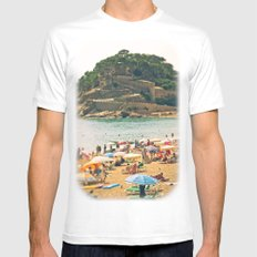 Tossa del Mar White Mens Fitted Tee SMALL
