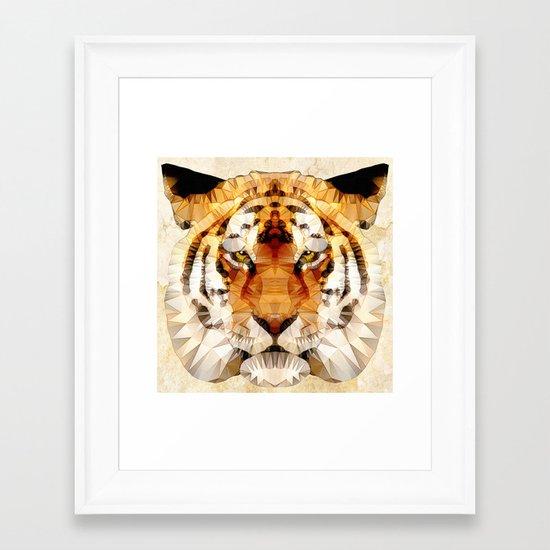 abstract tiger Framed Art Print