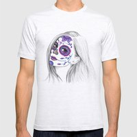 Sugar Skull Girl Mens Fitted Tee Ash Grey SMALL