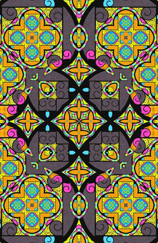 Happy Summer mandala Art Print