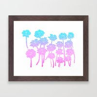 Gradient Roses Framed Art Print