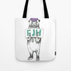 FJH-bear sign Tote Bag