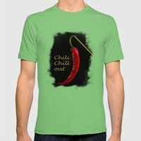 Chili Chill out Mens Fitted Tee Grass SMALL