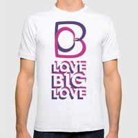 LOVE BIG LOVE Mens Fitted Tee Ash Grey SMALL