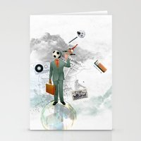 Soccer Man Stationery Cards