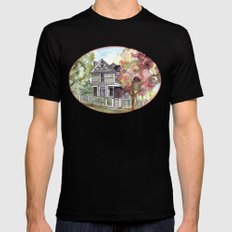 Springtime in the Country Mens Fitted Tee Black SMALL