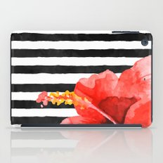 Tropical flower on stripes iPad Case