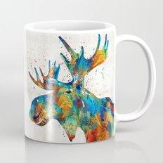 Colorful Moose Art - Confetti - By Sharon Cummings Mug