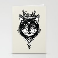 King of Wolf Stationery Cards