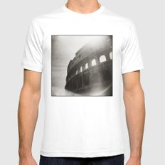 { Colosseum } Mens Fitted Tee SMALL White