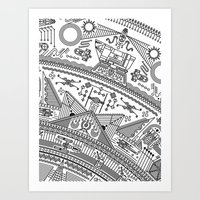 Four - Version 2 (with details) Art Print
