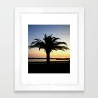 Silhouette Of A Palm  Framed Art Print