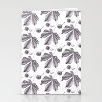 Floral pattern horse-chestnut Stationery Cards