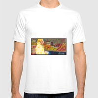 Torso At Fruit Stand, Ch… Mens Fitted Tee White SMALL
