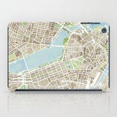 Boston Sepia Watercolor Map iPad Case
