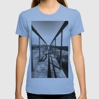 Theodore Roosevelt Beach… Womens Fitted Tee Athletic Blue SMALL